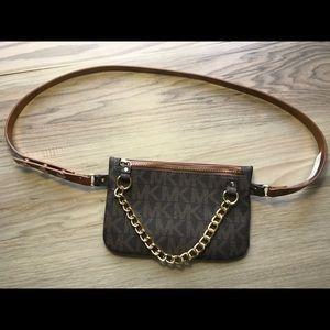 Michael Kors Brown Fanny Pack Belt Bag